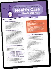 Shisha Fact Sheets - Health Care Factsheet